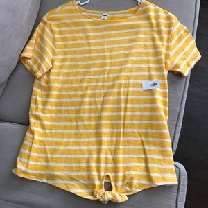 Old Navy tie-front T-shirt